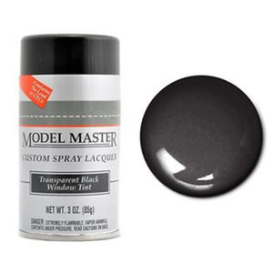 Model Master 2949 Spray Transparent Black Window Tint 3oz. (85 g) Enamel Paint Can