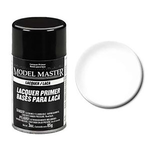 Model Master Spray Super Fine White Lacquer Primer 3oz (85g) Enamel Paint #2961