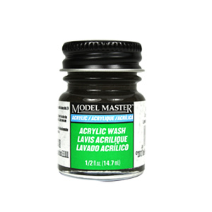 Black Detail Wash Acrylic Paint - Flat 4871 - 1/2 oz. Wash Acrylic by Model Master