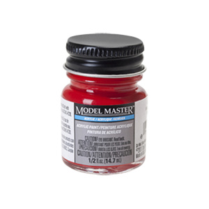 Caboose Red Acrylic Paint - Flat 4880 - 1/2 oz. Bottle Acrylic by Model Master