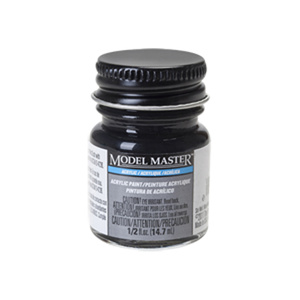 Engine Black Acrylic Paint - Flat 4888 - 1/2 oz. Bottle Acrylic by Model Master