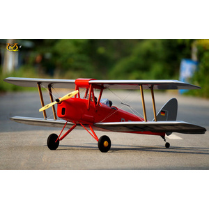 VQ Models DH-82 Tiger Moth (Red) 55in Wingspan ARF #VQA139
