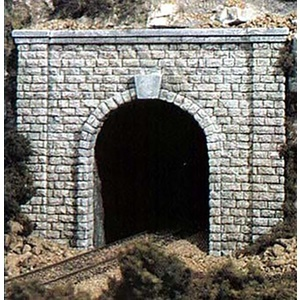 Two N Scale Single Track Cut Stone Tunnel Portals #C1153