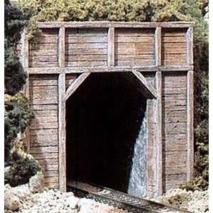 N Scale Single Track Timber Tunnel Portals #C1154