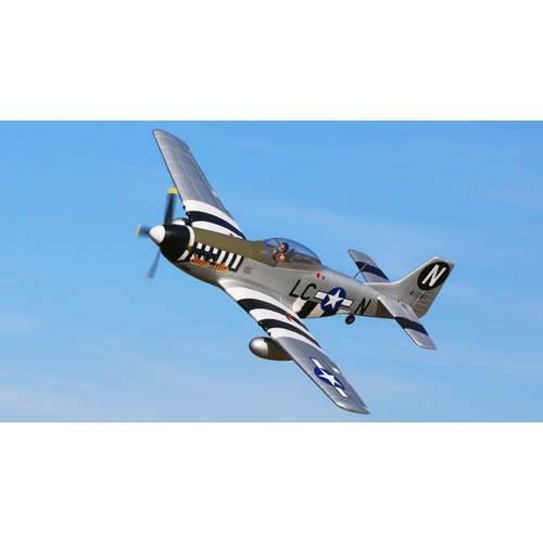 P-51D Mustang 1.2m BNF Basic with AS3X and SAFE Select (EFL8950)