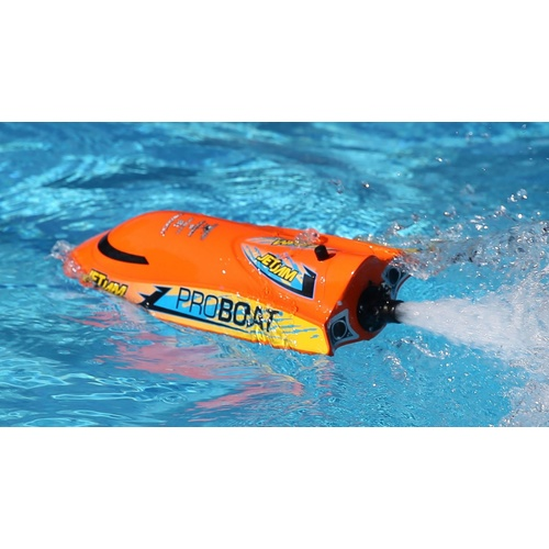 "Jet Jam RC Speed Boat 12"" Pool Racer, Orange: RTR (PRB08031T1)"