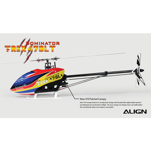 T-REX 470LT RC Helicopter Torque Tube version  #RH47E09X