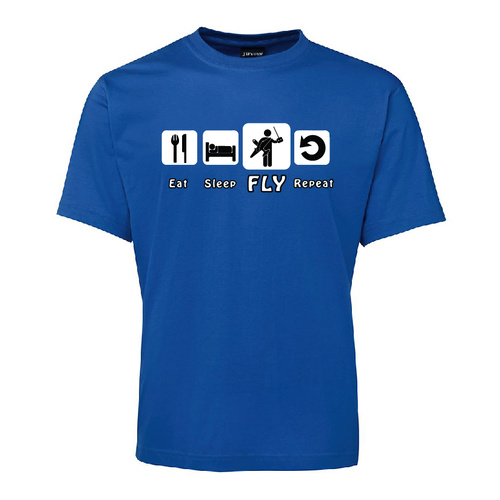 Mens RC T-Shirt - Eat Sleep Fly Repeat - Medium - Blue